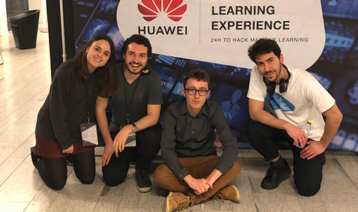 The winning team from Sweden's KTH University, comprising (left to right): Sandra Picó, Miquel Larsson, Quentin Lemaire and Daniel Del Castillo