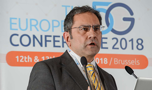 Reza Karimi, addressing the 2019 European 5G conference in Brussels on 23 January 2019