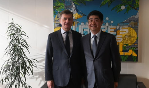 Huawei Rotating CEO Ken Hu met EU Commission Vice-President Andrus Ansip on 4 March to discuss cyber security standards, 5G and the opening of the Huawei Cyber Security Transparency Centre in Brussels.