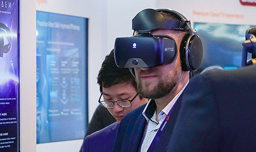 Huawei's exhibition at this year's Mobile World Congress was visited by tens of thousands of people