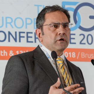 Reza Karimi speaking at the European 5G Conference in Brussels (23 January 2019)