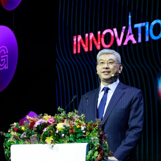 William Xu, Huawei's Director of the Board and President of the Institute of Strategic Research, speaking at the 2019 Innovation Day