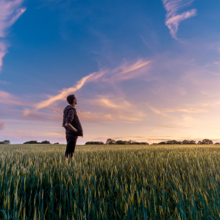 Farmer standing in a field