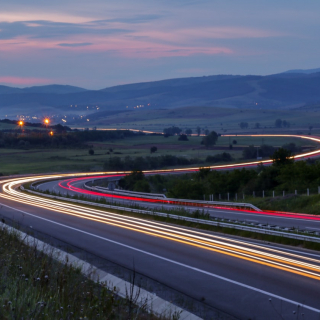 Timelapsed photo of highway in Bulgaria