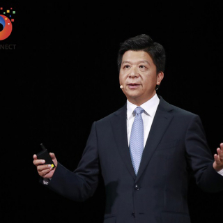 Guo Ping delivers a keynote speech at Huawei Connect 2020