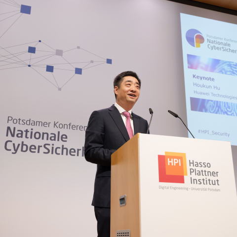 Ken Hu, Deputy Chairman, Huawei, speaking on 23 May 2019 at the Potsdam Conference on National Cybersecurity (Germany)